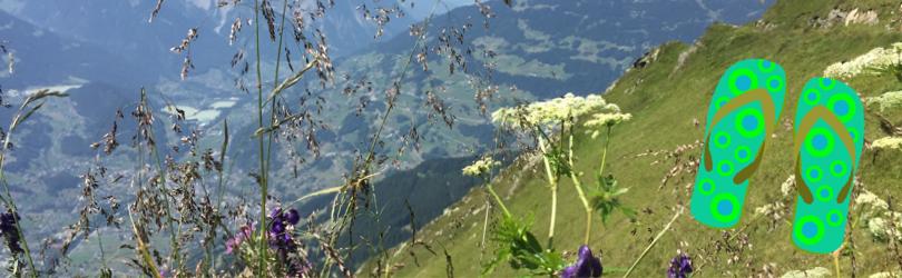 Achtsames Bergwandern mit Flip-Flops – eine ungewöhnliche Achtsamkeitsübung