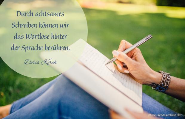 Achtsames Schreiben   Achtsamkeitsübung Alltag