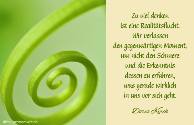 Achtsamkeit Zitat Doris Kirch