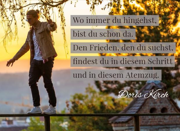 Gehmeditation Doris Kirch Zitat