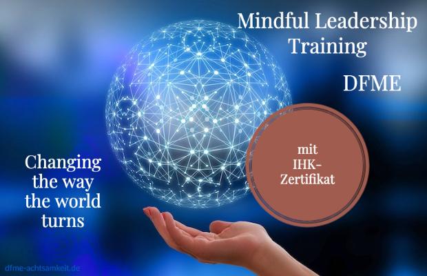Werbeanzeige für das DFME Mindful Leadership Training