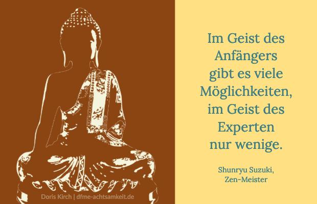 Buddha als Symbol für die Haltungen der Achtsamkeit